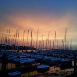 Coucher de soleil sur Nieuwpoort