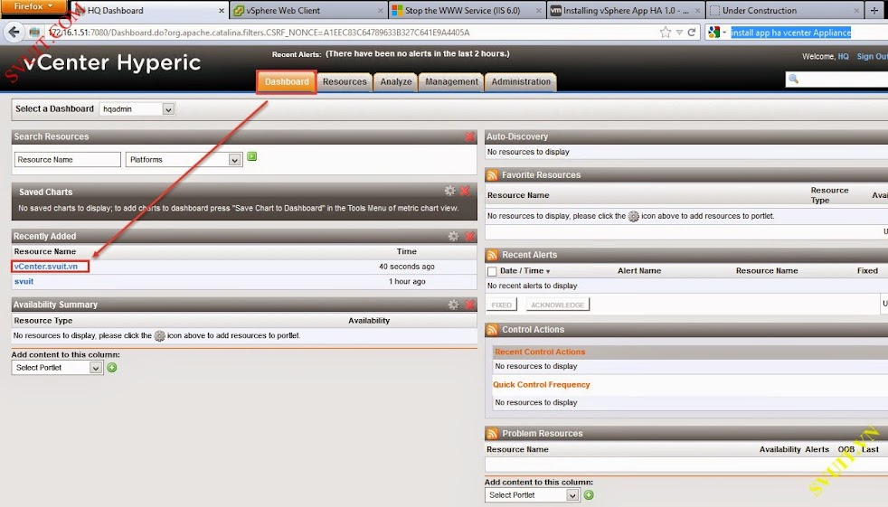 Configure vSphere vCenter Hyperic (4)