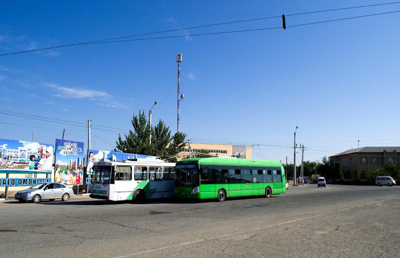 Поездка на троллейбусе из Ургенча в Хиву