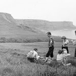 1966.05.31 The Long Walk Kimmeridge to Swanage Andy Hopkinson, Geoff Bath, Margaret Embling,Anthea, Alan Evans.jpg