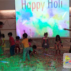 Holi Celebrated by Playgroup Evening Section at Witty World, Chikoowadi (2017-18)