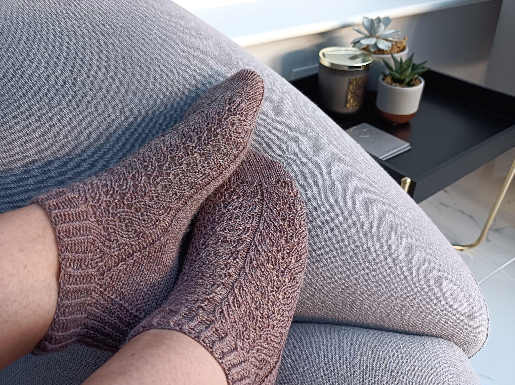 Cliff Walk Socks by Curious Handmade, Handmade Sock Society Season 2, shortie version