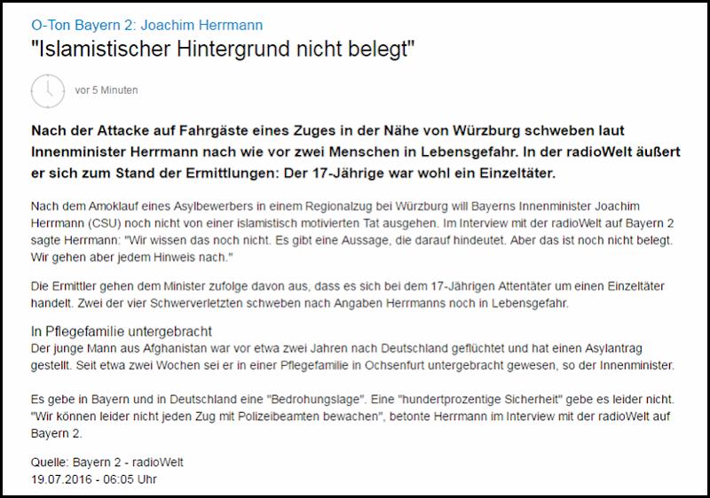 Herrmann zu Zugattentat