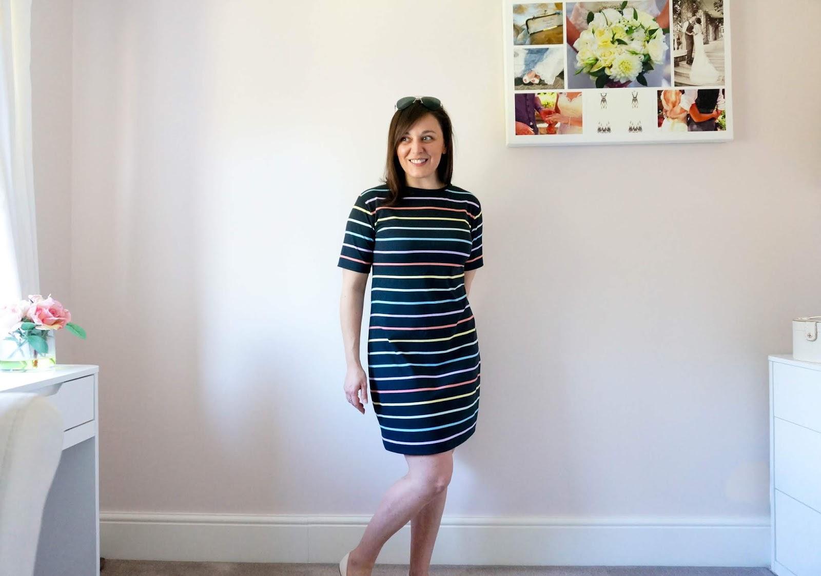 http://www.thepetitepassions.com/2020/04/rainbow-t-shirt-dress.html