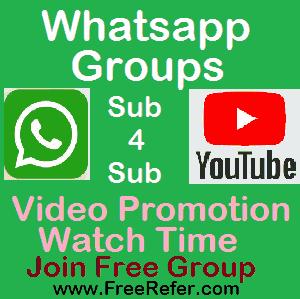 Sub4Sub Whatsapp Group Link