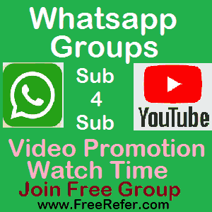 Free Youtube Promotion Whatsapp Group Link — Sub4Sub Whatsapp Group Link 2021 India
