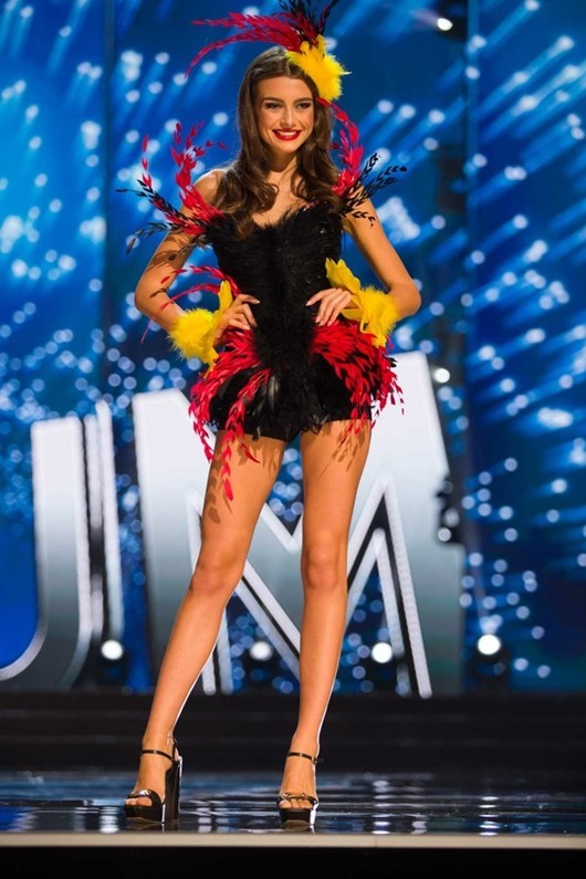 Stephanie Geldof, Miss Belgium 2016 debuts her National Costume on stage at the Mall of Asia Arena on Thursday, January 26, 2017.  The contestants have been touring, filming, rehearsing and preparing to compete for the Miss Universe crown in the Philippines.  Tune in to the FOX telecast at 7:00 PM ET live/PT tape-delayed on Sunday, January 29, live from the Philippines to see who will become Miss Universe. HO/The Miss Universe Organization