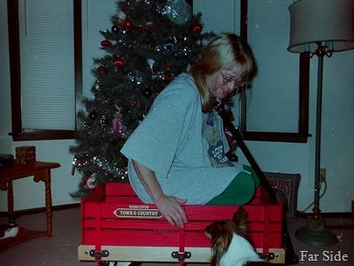 Christmas 1996 me and Mate