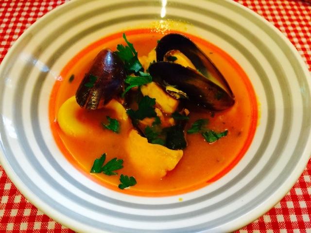 Provencal fish soup Bouillabaisse