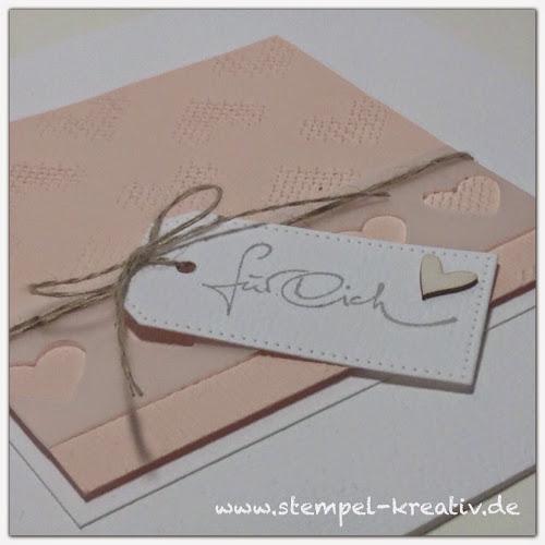 Glückwunschkarte für dich Alexandra renke Stitched love Spun