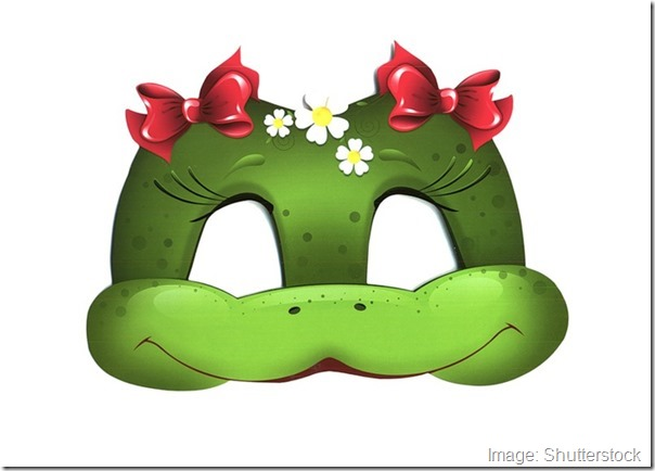 kids-face-masks-template-animals-green-snake-girl