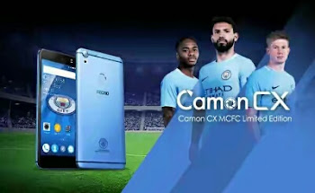 Tecno camon cx mancity edition