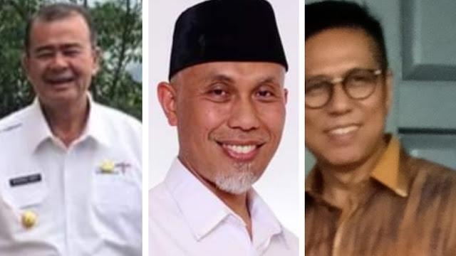 Survei: NA, Mahyeldi dan Mulyadi Berpeluang Menangi Pilgub Sumbar