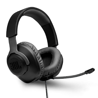 JBL Quantum 100 by Harman, Wired Over-Ear Gaming Headphones