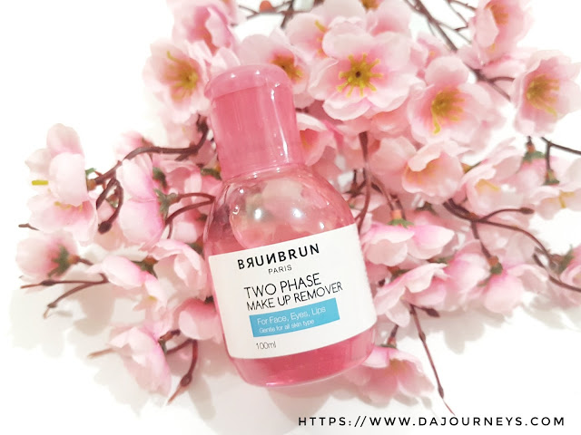 Review BrunBrun Paris Two Phase Make Up Remover