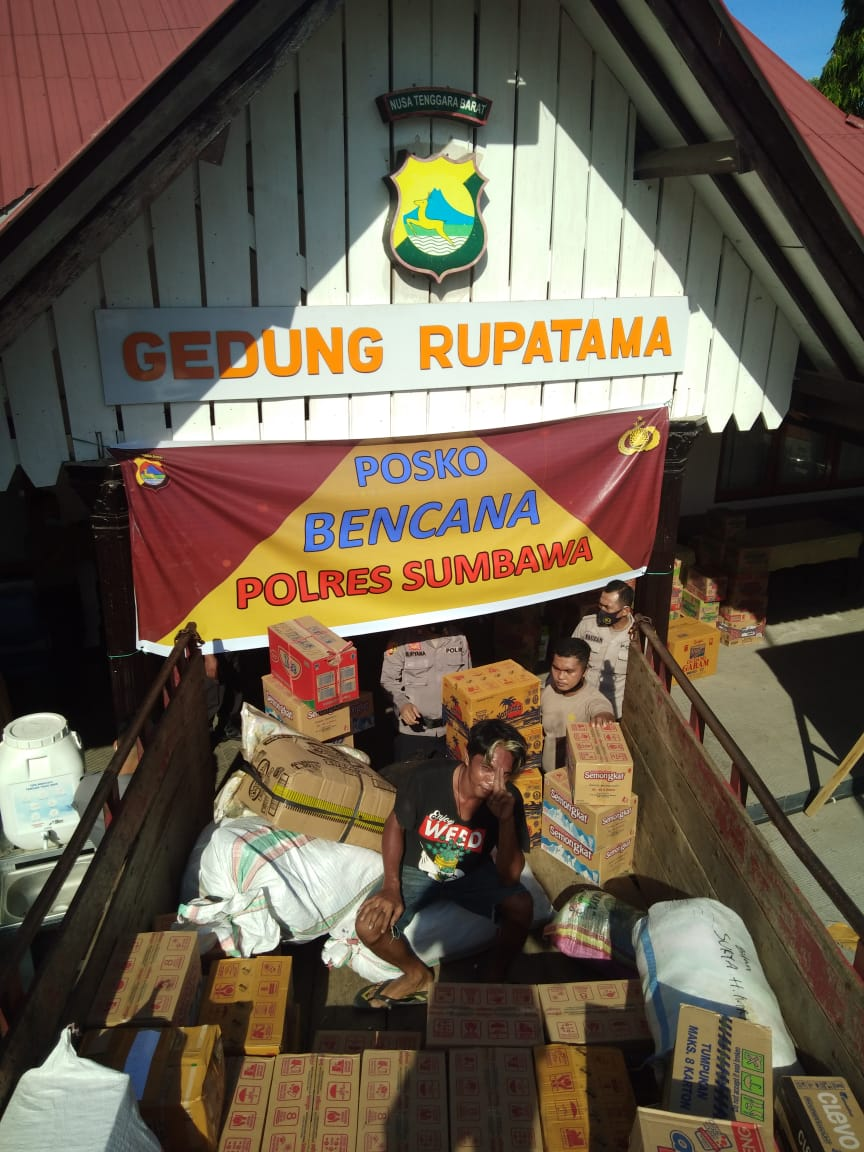 Polres Sumbawa Kembali Salurkan Bantuan ke Desa Baturotok