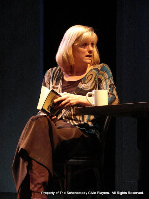 "Cristine M. Loffredo in ""Sure Thing"" as part of THE IVES HAVE IT - January/February 2012.  Property of The Schenectady Civic Players Theater Archive."