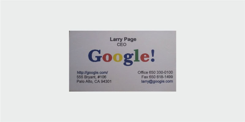google first business card