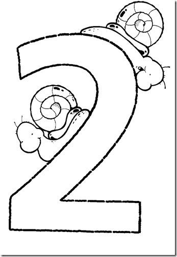 Números muy grandes del 1 al 5 para colorear