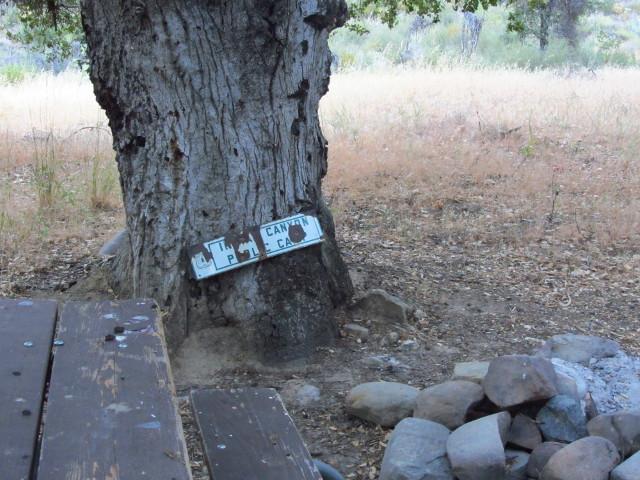 old porcelin sign