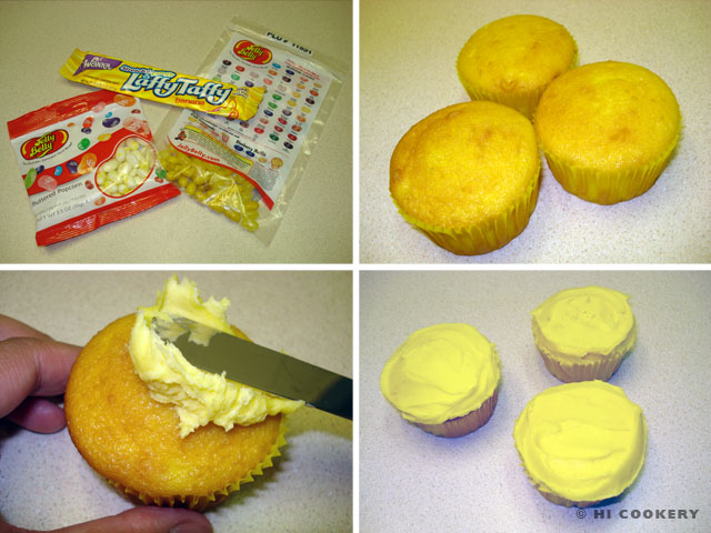 Jelly Bean Corn Cupcakes