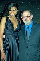 Pia Glenn And Salman Rushdie Shankbone 2009 Vanity Fair