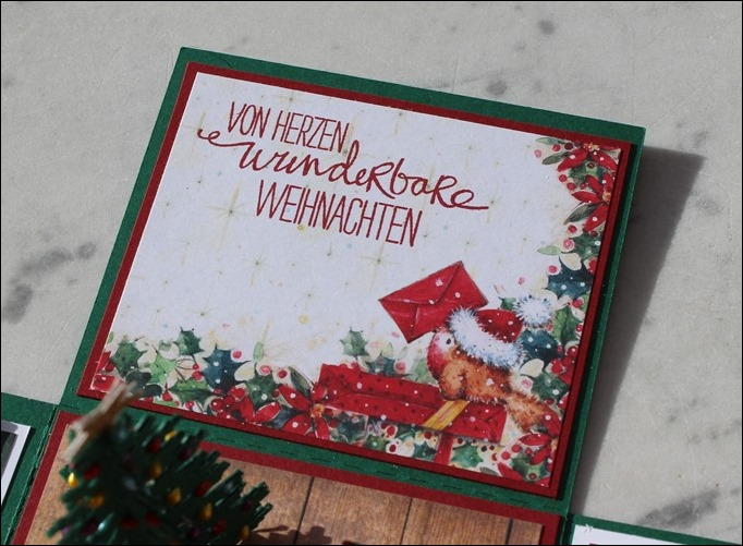 Explosion Box Weihnachten Christmas Poinsettia Christbaum Stampin Up Es weihnachtet sehr 05