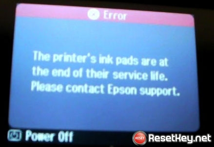 The Epson SX445 Printer's Ink Pads at the end of Their service life