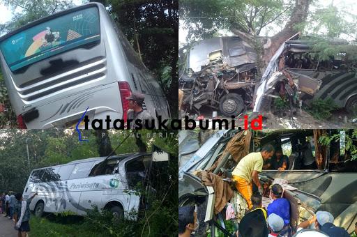 Fakta Baru Kecelakaan Maut Bus Pariwisata Rombongan Pelajar Sukabumi // Foto : Rudi Imelda