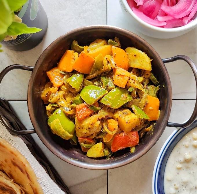 Aloo Shimla Mirch/ Potato Capsicum Recipe | Breakfast Care
