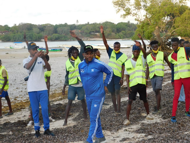 Kilifi incoming Senator lawyer George Kithi spearheaded a cleaning drive at Mtwapa