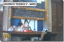 Il bar abusivo all'interno dell'Università Federico II di Napoli