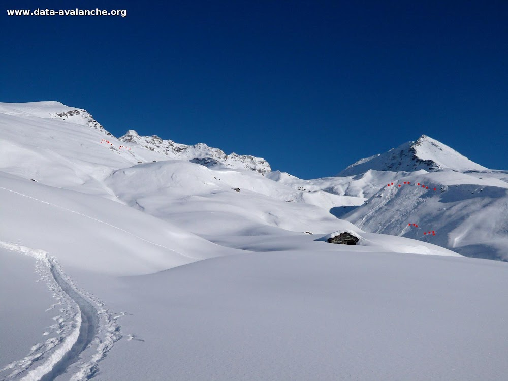 Avalanche Haute Maurienne, secteur Ouille Allegra, La Buffaz - Photo 1 - © Charon Victor