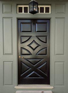Porta colorida preta