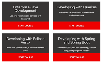 free Openshift courses for Java developers