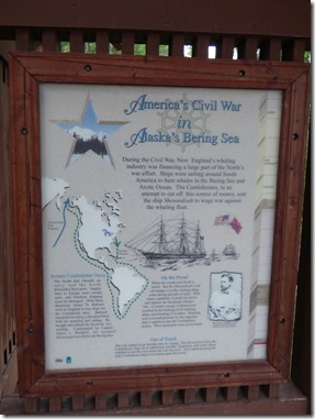 Civil War information board, Alaska Veterans Memorial