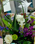 Floral centerpieces adorned each table.
