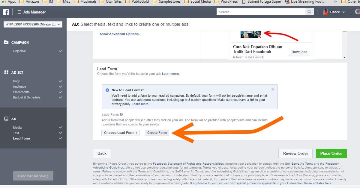 Facebook Ads Ad Lead Form