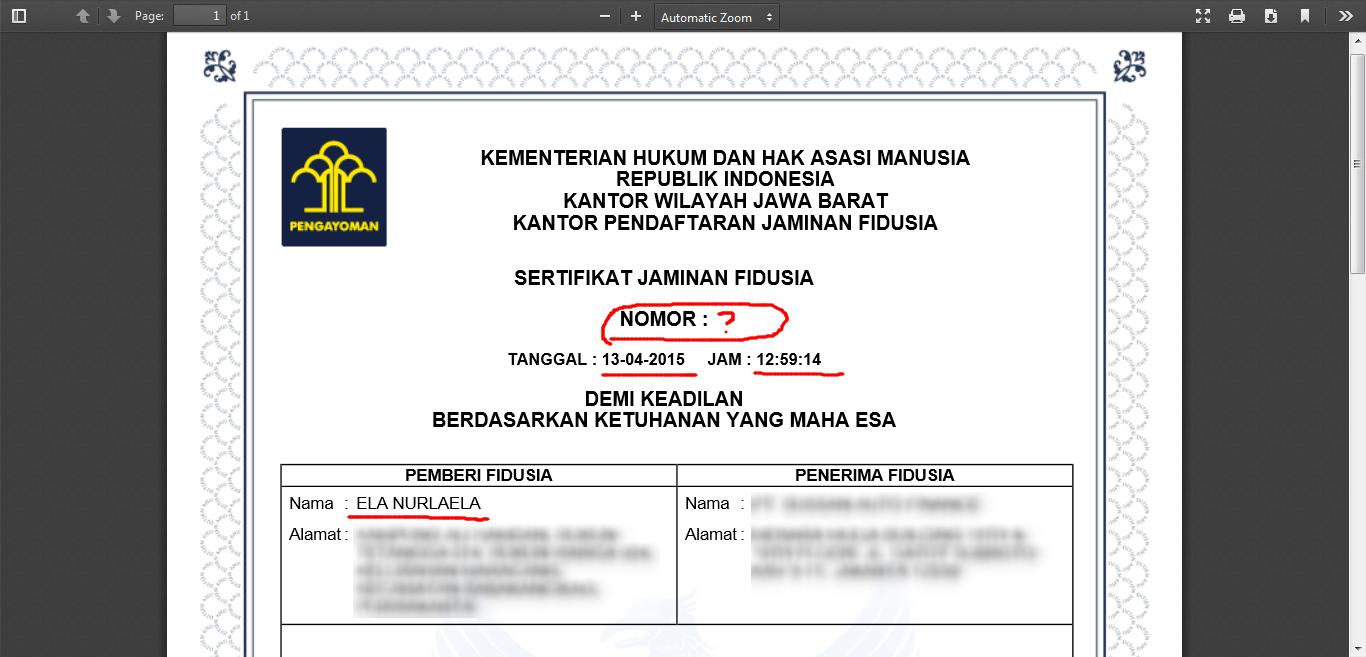 Masyarakat Polisi Indonesia Contoh Akta Jaminan Fidusia