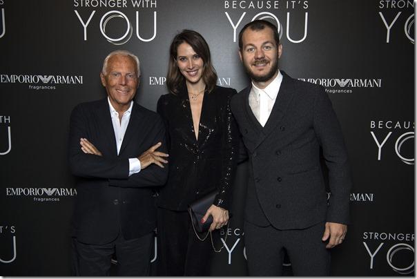 Giorgio Armani, Ludovica Sauer, Alessandro Cattelan - SGP