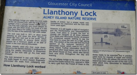 13 llanthony lock interpretation board