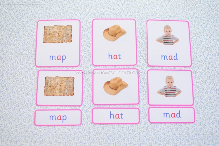 Montessori CVC Reading Cards Vowel A