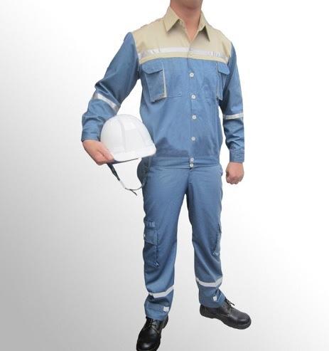 Quần áo bảo hộ lao động Pangrim Hàn Quốc màu xanh ghi - QAK0002
