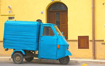 Sizilien - Mietwagen sind gewöhnlich neuerer Bauart