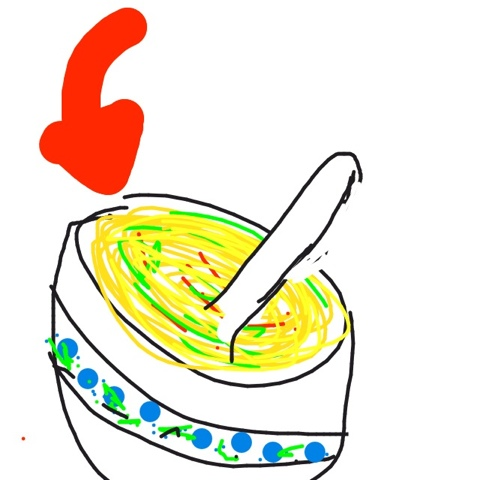if you're hungry and you know it, draw a bowl