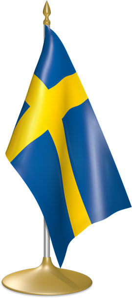 Swedish table flags - desk flags
