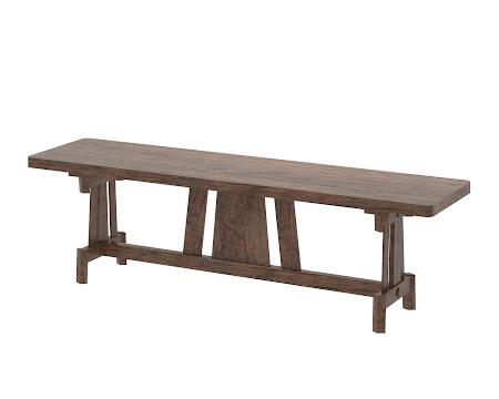 Shenzen Bench in Weathered Maple