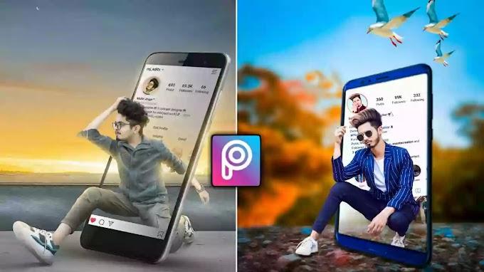 Viral 3D Mobile Effect Instagram Tutorial | PicsArt Background PNG Download