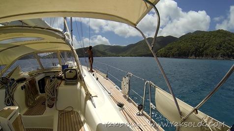 Navigazione verso Maho Bay - St. John - USVI