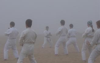 На Ладоге туман • Лагерь айкидо Дмитрия Потехина. 2003.